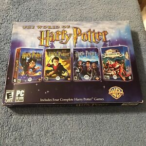 The World of Harry Potter: 4 PC CD-ROM Games (PC, 2005) Brand New Sealed