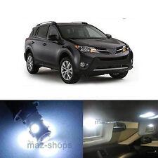 13Pcs LED White Lights Interior License Package Kit For  2013-2017 Toyota Rav4
