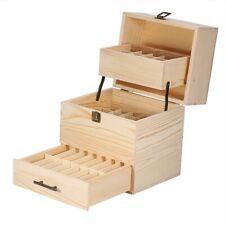 Grande boîte de rangement en bois pour huiles essentielles Récipient L