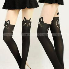 Cute Womens Girls Cat Tail Gipsy Mock Knee High Hosiery Pantyhose Tattoo Tights