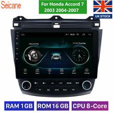 10.1'' Android 8.1 Quad Core WIFI GPS Radio For Honda Accord 7 2003 2004-2007