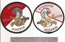"#279 US ARMY Q/4/3ACR QUICKSILVER PATCH ""GUNS R US"""
