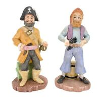Lefton Pirate Buccaneer Figurine Statue Lot Of 2 Made In Japan