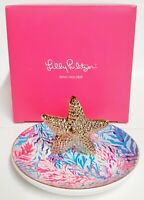 Lilly Pulitzer Kaleidoscope Coral Starfish Ring Holder Trinket Dish Multi New