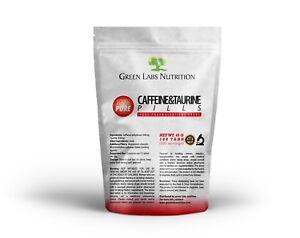 CAFFEINE 200mg TAURINE 200mg TABLETS PILLS FOCUS 100% PHARMACEUTICAL QUALITY