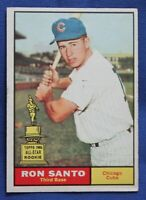 Ron Santo 1961 Topps #35 Rookie Card Chicago Cubs EX