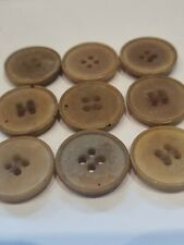 JOB LOT SET OF 9 VINTAGE 3D 60s, 70,s COFFEE/BEIGE/BROWN 23.1MM 4 HOLE BUTTONS