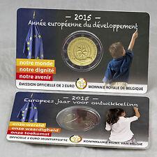 2 EURO MÜNZE GEDENKMÜNZE COIN CARD BELGIEN BELGIUM ENTWICKLUNG DEVELOPMENT 2015