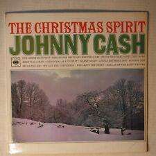 JOHNNY CASH -CHRISTMAS SPIRIT –BRITISH 12 INCH STEREO VINYL LP ALBUM – CBS-62284