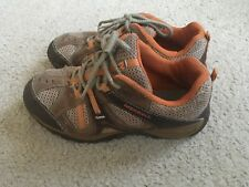 Boys brown/orange Merrell outdoor/hiking walking shoes size 4.5