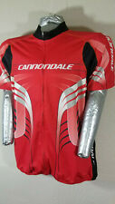 Mens Cannondale Red Cycling Jersey Full Zip XL