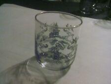 BLUE WILLOW  SHORT DRINKING/JUICE GLASS TUMBLER (set of 4)