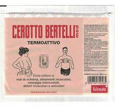 CEROTTO MEDICATO BERTELLI 16 x 12,5 cm TERMOATTIVO CAPSICO OLEORESINA ARNICA