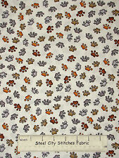 Loralie Dear Doggie Delight Dog Paw Print Cream Cotton Fabric 692-108-B YARD