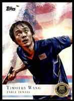 2012 TOPPS OLYMPICS GOLD TIMOTHY WANG TABLE TENNIS #8 PARALLEL