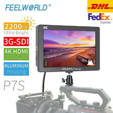 New FEELWORLD P7S 4K Monitor 7' Inch 2200nit 3G-SDI on Camera HDMI for DSLR