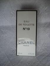 VINTAGE CHANEL 19 EAU DE TOILETTE SPLASH 50 ML 1.7 oz FULL PLASTIC SEALED