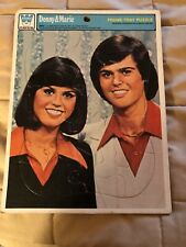 """Vintage 1977 """"new� Donny and Marie Osmond Head Shot Frame Tray Puzzle, Whitman"""