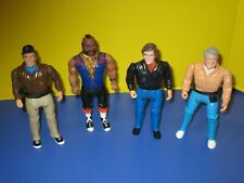 Lot of 4 - 1983 Cannell Prod. A-Team Tv Show Action Figure Mr. T