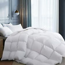 High Quality Goose Down Comforter 100% Egyptian Cotton 1200TC White Full Size
