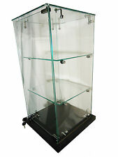 BLACK COUNTER TOP GLASS DISPLAY CABINET|SHOWCASE RETAIL SHOP HIGH QUALITY
