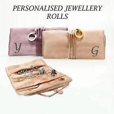 Personalised Elegant Jewelry Roll Holder Necklaces Pendants Organizer Travel Bag
