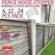 More details for fence panel grips clips stop rattling 48 pcs for 12 fences garden wind protector
