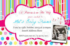 Personalised It's a Girl Princess Photo Baby Shower Invitation