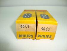 2 x 90C1 PHILIPS NOS/NIB TUBES.