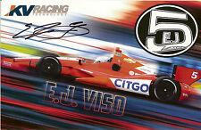 2012 E.J. VISO signed INDIANAPOLIS 500 PHOTO CARD POSTCARD INDY CAR CHEVY ej wCA