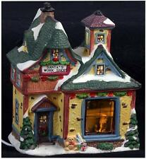 Cerámica Luz-Up Santa's Workshop Ornamento Navidad Decoración de Navidad