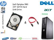 """500GB Dell OptiPlex 580 3.5"""" SATA disco duro (HDD) de reemplazo/UPGRADE"""