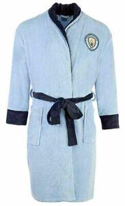 Mens Manchester Man city dressing gown / bathrobe (bath robe pjs pajamas pyjamas