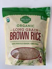Wellsley Farms Organic Brown Rice 4 lbs Long Grain