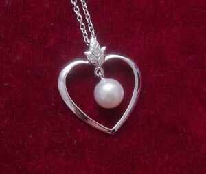 MIKIMOTO pendant akoya pearl silver 6.8 mm (with silver chain)