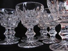 "Set of Ten 3 7/8"" Heavy Molded Lead Crystal Stemmed Cordial Wine Glasses"