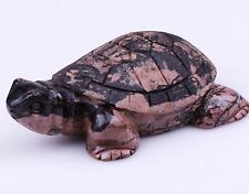 Japan Antique Handcarved Rhodonite tortoise statue - late 19th Century