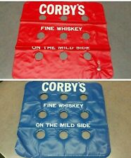 2 - vtg  Corby's Whiskey Inflatable Shot Glass Holder  Pool Party  drinking game