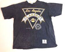 Vintage 1988 NUTMEG MILLS Mens XL LAKERS NBA T-Shirt GRAY Basketball Club LA