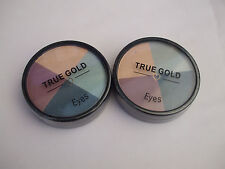 2 x True Gold Eye Quad Eyeshadow Mix Special Offer 2 for £5.00 New