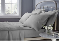 Fitted Bed Sheets 100% Cotton Single Double King Super King Egyptian 25 cm 30 cm