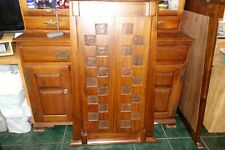 Antique Anglo-Indian Teak Mirror late 19th century with shutter doors