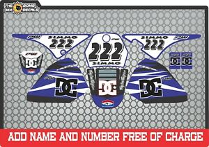 pw80 decals graphics your name and number yamaha pw 80 personal   Full kit  blue
