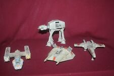 Star Wars 1995  Micro Machines Lot of 4 AT AT Snowspeeder Y Wing & Starfighter