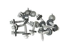 "100 x 32mm TEK SELF DRILLING METAL ROOFING SCREWS TO WOOD, 8mm (5/16"") HEX HEAD"
