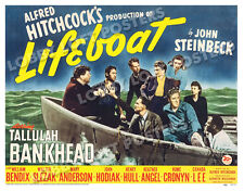 LIFEBOAT LOBBY CARD POSTER HS 1944 TULLULAH BANKHEAD WILLIAM BENDIX HITCHCOCK