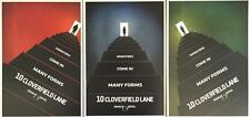 "SET OF 3 - 10 CLOVERFIELD LANE Original Promo Movie Posters 9""x13"" IMAX 2015 AMC"