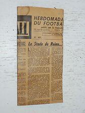 FRANCE FOOTBALL OFFICIEL HEBDOMADAIRE FFF N°457 21/12 1954