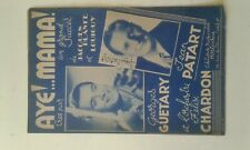 -Autographe georges guetary , jean patart