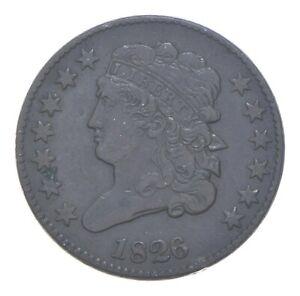 1/2c - HALF CENT - 1826 Classic Head United States - Half Cent *163